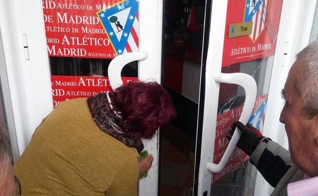 Daños por el intento de robo en la sede de la Peña Atlética de Guareña