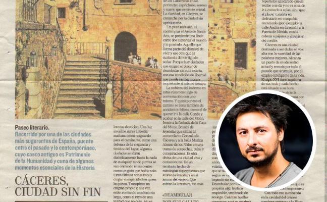 Antonio Lucas y su artículo 'Cáceres, ciudad sin fin', Premio de Periodismo de la Mercedes Calles