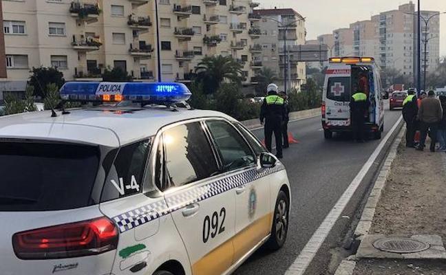 Herido un motorista de 38 años al chocar con un coche en Antonio Masa Campos de Badajoz