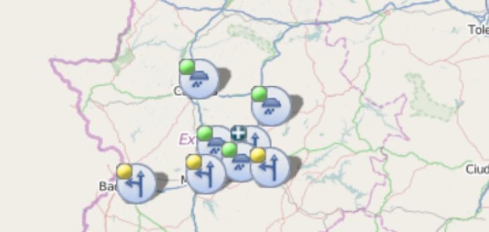 Avisos de la DGT por densos bancos de niebla en Extremadura