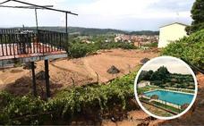 Licitan la reparación de la piscina de Valverde de la Vera arrasada por el lodo