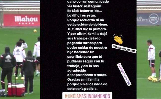Aurah Ruiz estalla contra Jesé Rodríguez