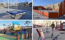 La zona deportiva de San Roque en Badajoz se completa con nuevas pistas