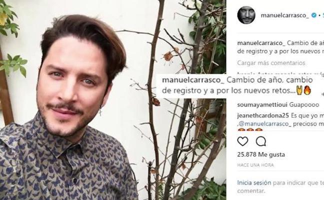 Manuel Carrasco sorprende con un cambio de look