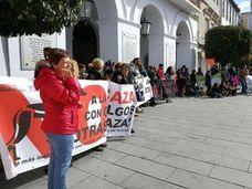 Protesta en Mérida contra la caza con galgos