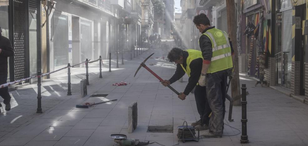 La empresa que hizo la plataforma única de Vasco Núñez repara las losetas