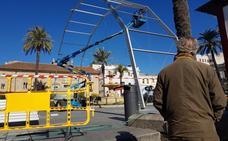 Comienza la instalación de la carpa transparente del Carnaval Romano