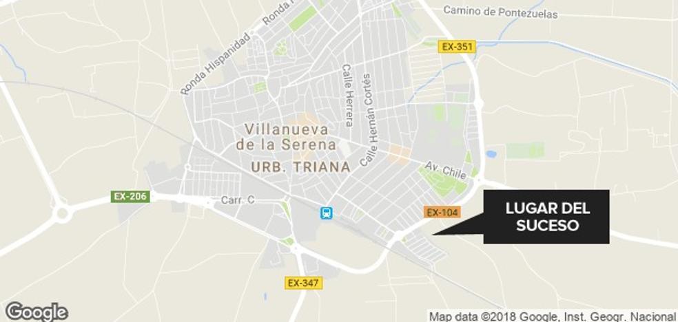 Herido un joven de 19 años tras ser atropellado en Villanueva de la Serena