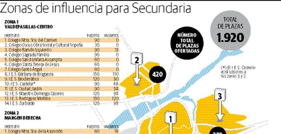 El IES Bárbara de Braganza y el Rodríguez Moñino tendrán un aula más de 1º de ESO