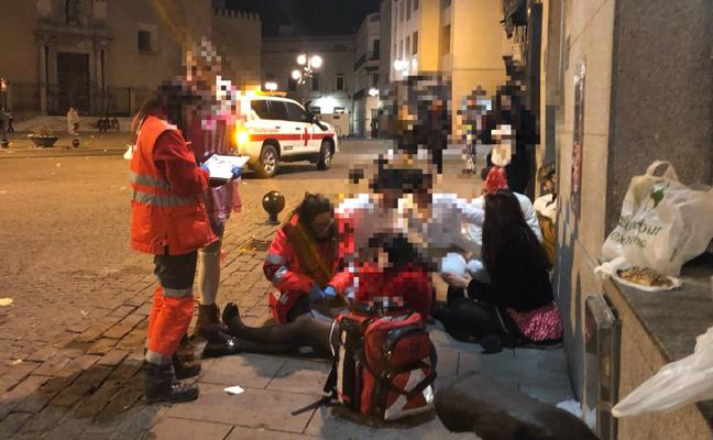 Veinte personas atendidas durante el sábado en el Carnaval de Badajoz
