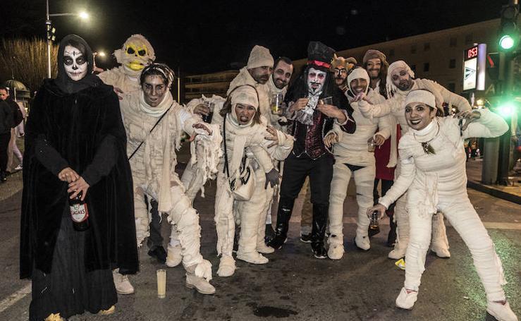 Una noche de carnaval hasta la bandera en Badajoz
