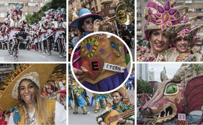 Orden del desfile del Entierro de la Sardina de Badajoz