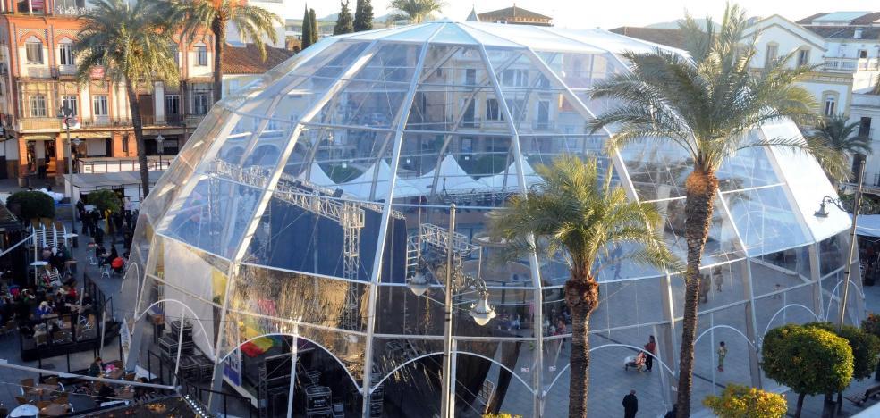 La gran carpa para Carnavales de Mérida ha costado casi 22.000 euros