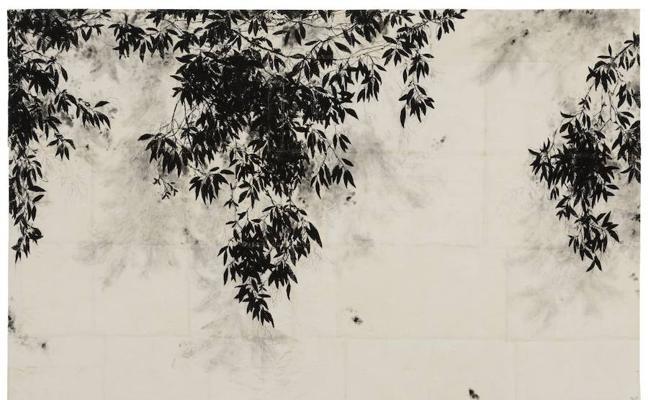Las sombras en el muro de Margarida Lagarto en el Meiac