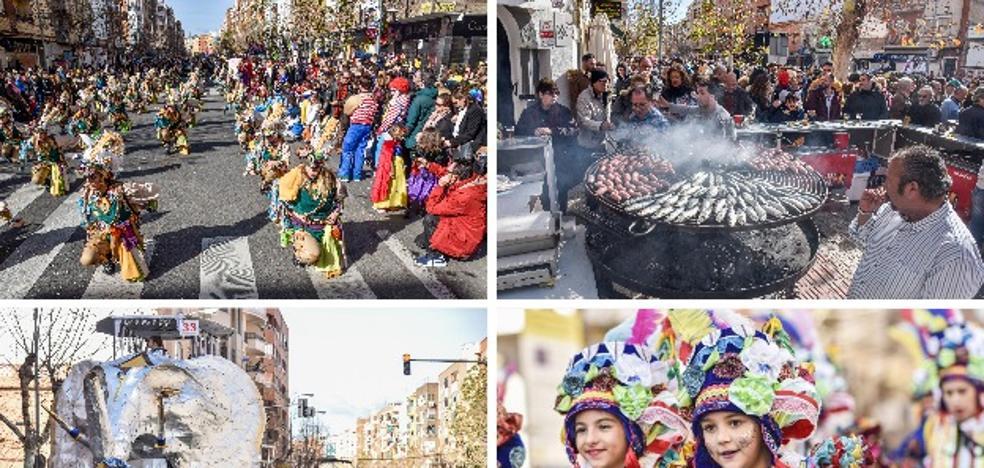 Umsuka-Imbali gana el desfile de El Entierro de la Sardina de Badajoz