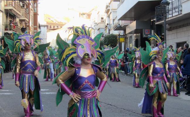 PLK2, Kiowas, El Litro y Tejeda, ganadores de los desfiles de comparsas y carrozas de Jaraíz