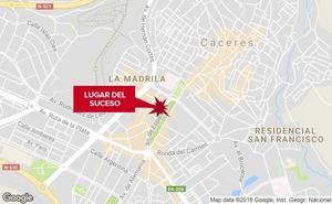 Dos heridos en una colisión por alcance en el Paseo de Cánovas de Cáceres