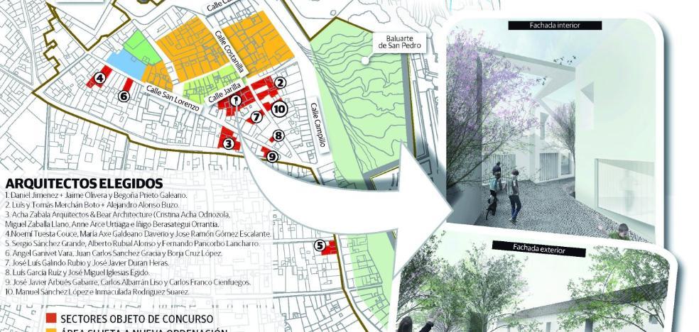 La rehabilitación del Campillo de Badajoz arranca con diez edificios dispersos por todo el área