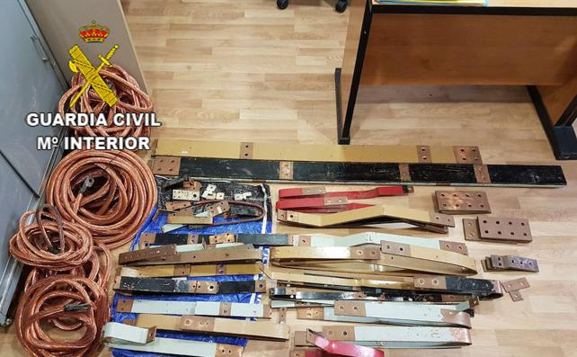 Dos detenidos por robos de cobre que ocasionaron daños de 100.000 euros a una fábrica morala