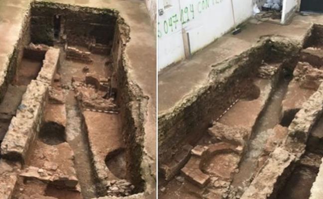 Una excavación del Consorcio de Mérida saca a la luz cinco estancias de una casa romana