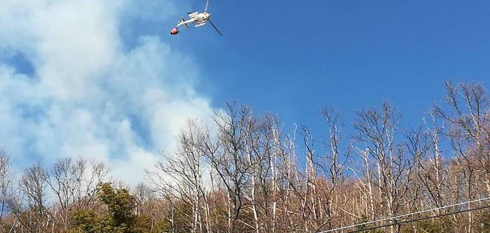 La Vera registra seis incendios forestales en la tarde del miércoles