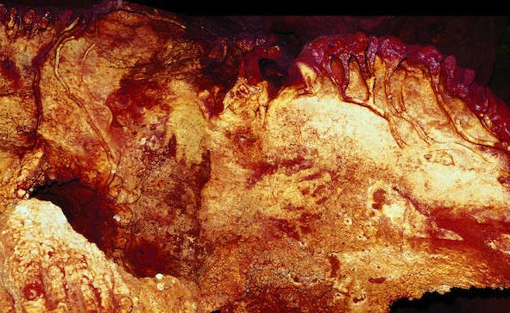 Las pinturas neardentales de de la cueva de Maltravieso