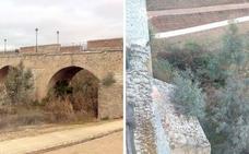 Alertan del riesgo de desprendimientos en el Puente de Palmas de Badajoz