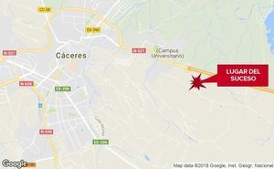 Herida una mujer al recibir el golpe de un caballo en un club hípico de Cáceres