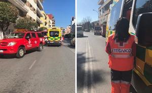 Un incendio en la avenida Villanueva de Badajoz deja dos menores heridos leves