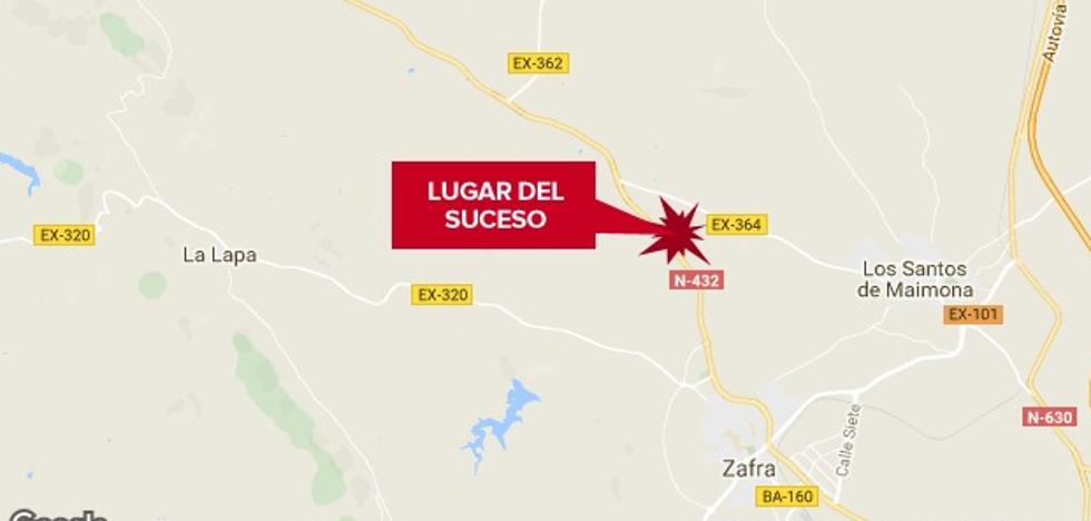 Dos heridos en otro accidente en la N-432, a la altura de Los Santos de Maimona
