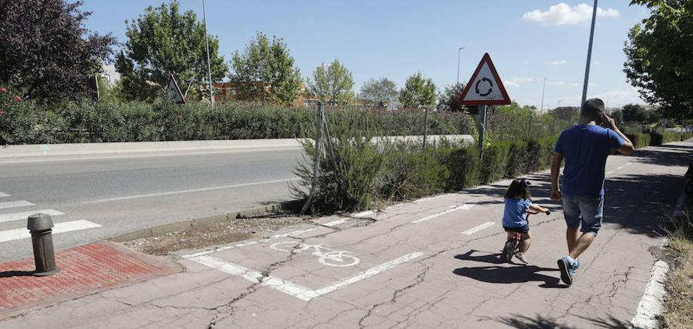 «El estado del carril bici de la Ronda Norte continúa siendo lamentable», dice el PSOE de Cáceres