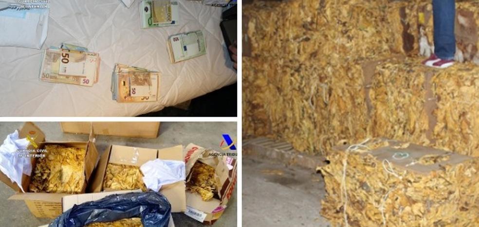La Guardia Civil incauta 14.000 kilos de tabaco cacereño de contrabando