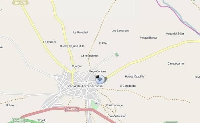 Interrumpida la circulación en la BA-074 a la altura de Granja de Torrehermosa por inundaciones