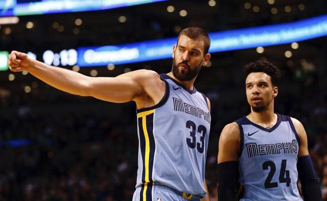 Un 'doble-doble' de Marc Gasol no salva a los Grizzlies