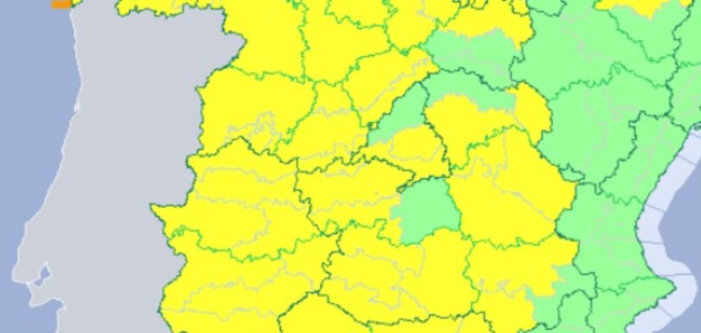 Se amplía la alerta amarilla por viento y lluvias en Extremadura