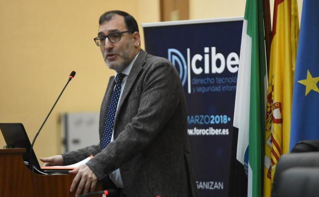 El juez Eloy Velasco, en el Foro Ciber 2018