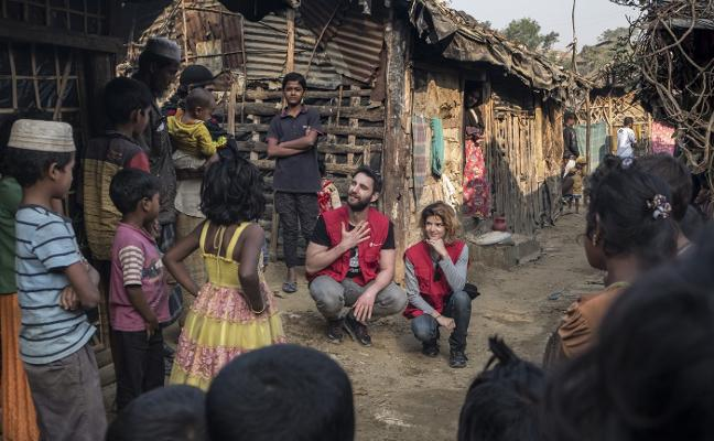 El campamento rohingya da miedo a los niños