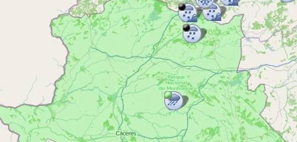 Reabren al tráfico la carretera CC-17.4 y el Puerto de Honduras cerrados esta mañana por nieve