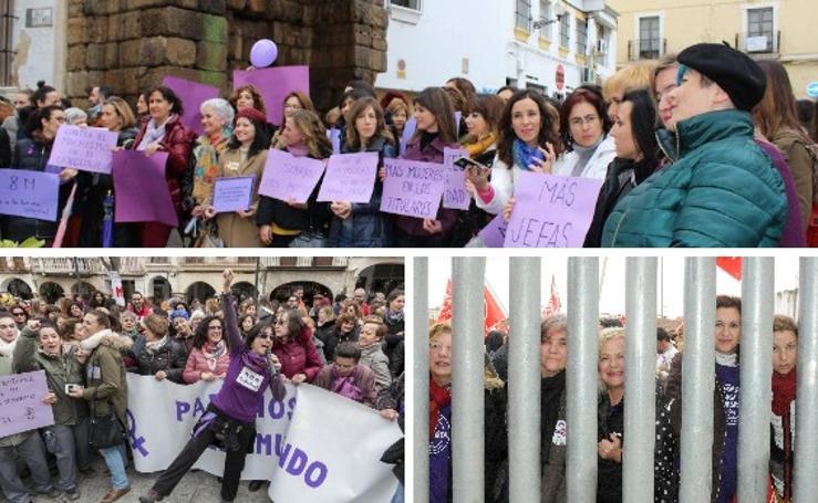Concentraciones feministas en Extremadura el 8M