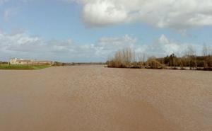 Desalojo de viviendas aisladas por la crecida del río Gévora