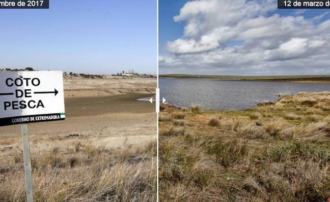 El pantano del Guadiloba en Cáceres tira en una noche el agua de todo un mes
