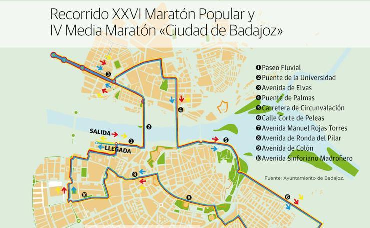 Maratón Popular y Medio Maratón 'Ciudad de Badajoz'