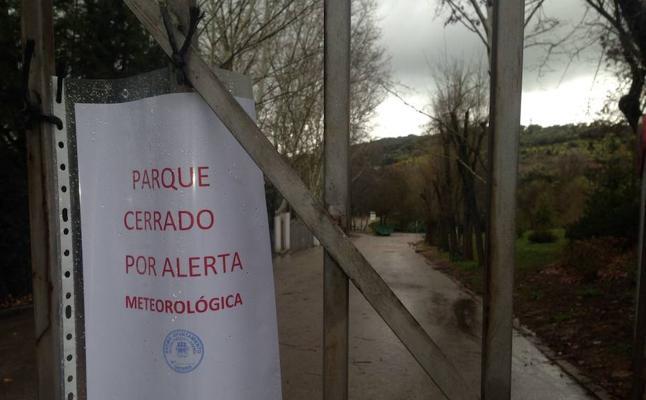 Cáceres cierra los parques de El Príncipe, el Rodeo y Padre Pacífico por el mal tiempo