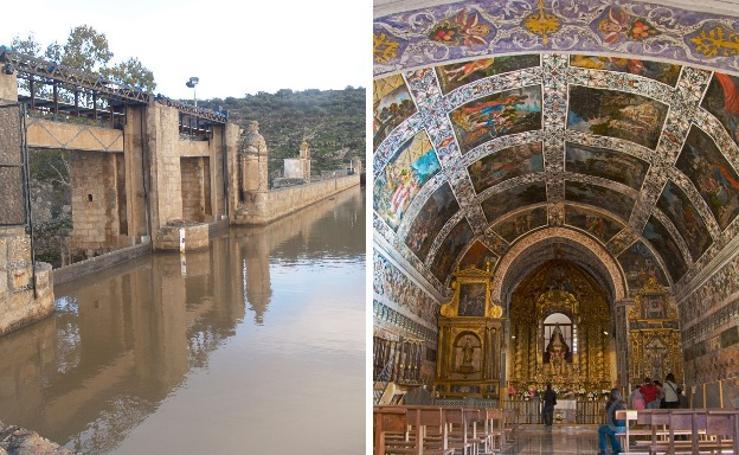 La Presa de Zalamea y la ermita de la Virgen del Ara, en imágenes