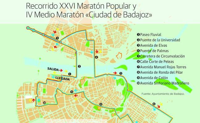 Policía Local, Protección Civil y Guardia Civil regularán el tráfico por la maratón de Badajoz