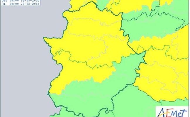 Extremadura vuelve a estar en riesgo por nevadas y viento este lunes