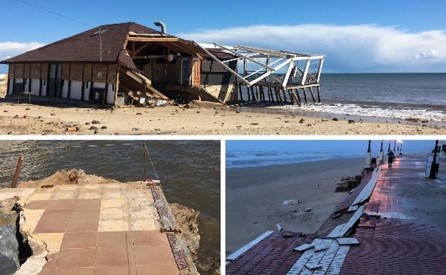 Así están los chiringuitos de las playas de Huelva a unos días de la Semana Santa