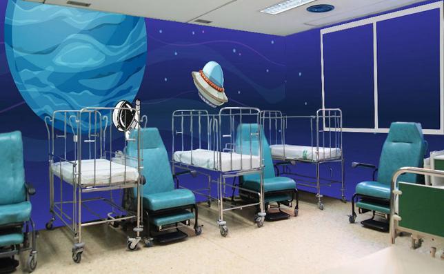 Las urgencias del Materno serán redecoradas con dibujos infantiles