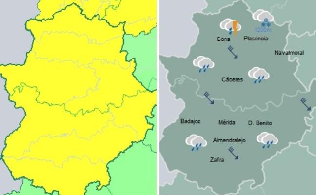 Extremadura volverá a estar en alerta por viento este viernes