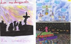 Los mejores dibujos de escolares de la Semana Santa de Cáceres
